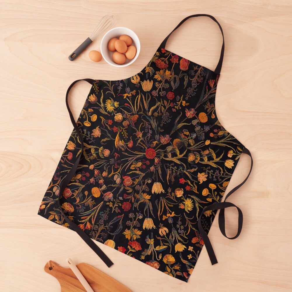 Midnight Floral Apron