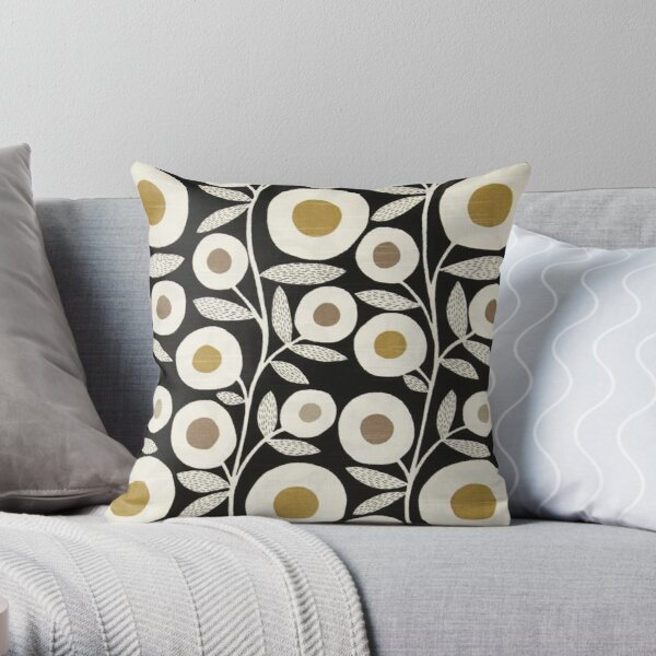 marimekko, scandinavian floral design Throw Pillow