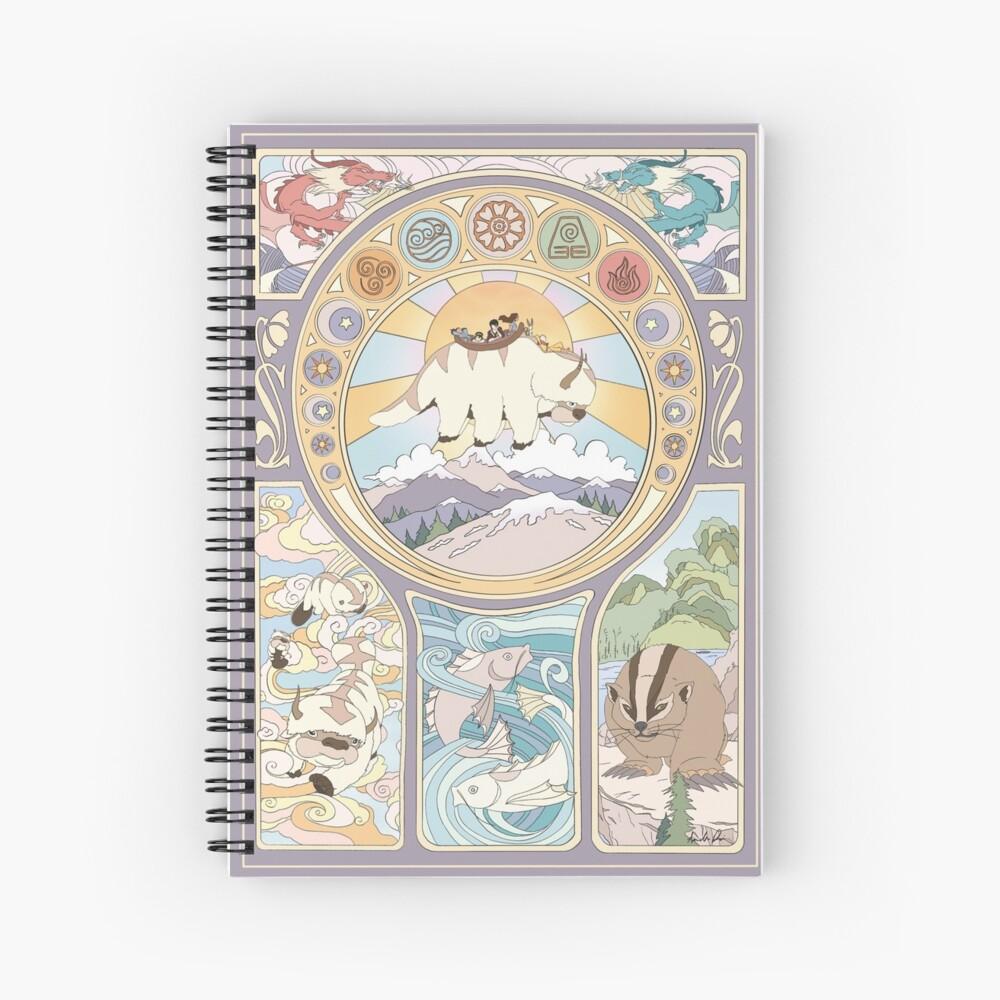 Team Avatar and Original Benders, Art Nouveau Spiral Notebook