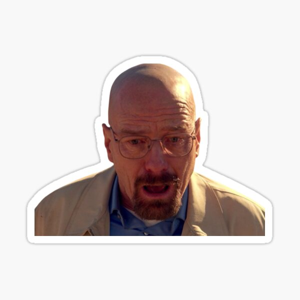 Walter White Shocked Sticker