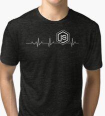 Node.js Heartbeat T-shirt & Hoodie Tri-blend T-Shirt