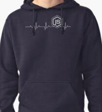 Node.js Heartbeat T-shirt & Hoodie Pullover Hoodie
