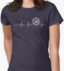 Node.js Heartbeat T-shirt & Hoodie Women's Fitted T-Shirt