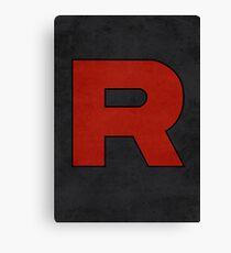 Team Rocket Logo Design Poster Pokemon Original Canvas Print