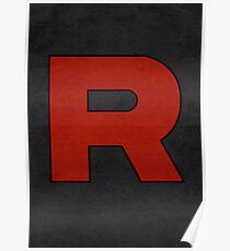 Team Rocket Logo Design Poster Pokemon Original Poster