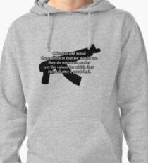 AK-47 B&W Pullover Hoodie