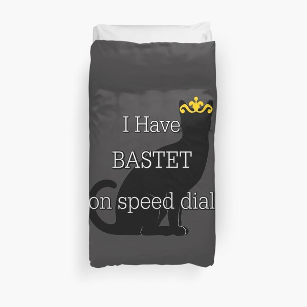 Bastet On Speed Dial Duvet Cover