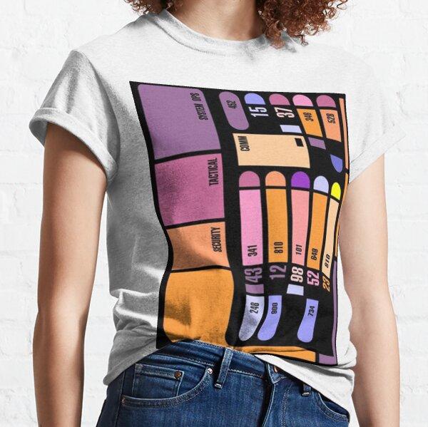 Panel de ordenador de Star Trek Camiseta clásica