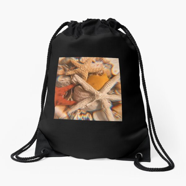 Shellfish and starfish  Drawstring Bag