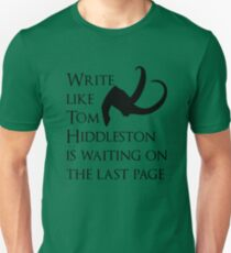Tom Hiddleston Waits on the Last Page Unisex T-Shirt
