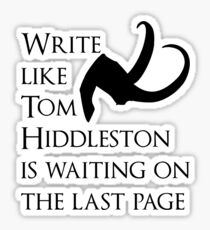 Tom Hiddleston Waits on the Last Page Sticker