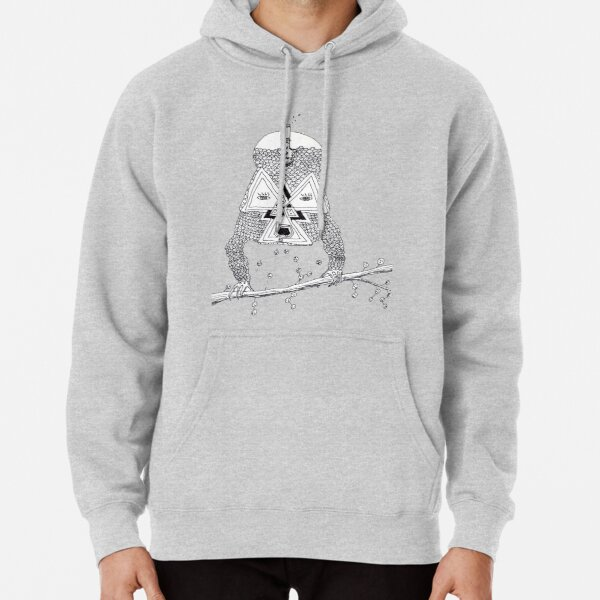 """Brain Food"" Ink Illustration Pullover Hoodie"