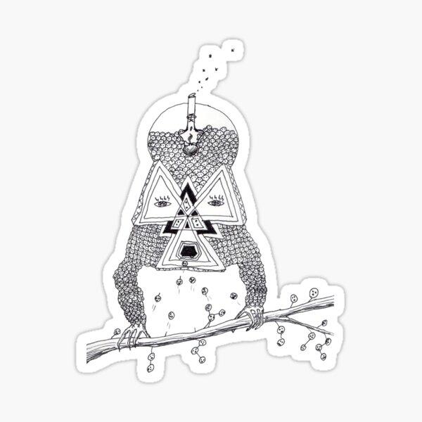 """Brain Food"" Ink Illustration Sticker"