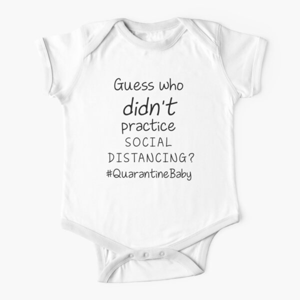 Personalized Baby Gift Funny Social Isolation Baby Bodysuit Custom Pregnancy Announcement Reveal