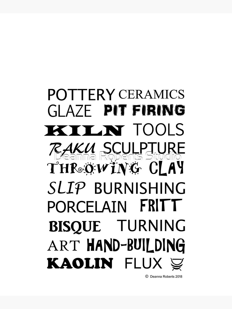 POTTERY GLOSSARY T-SHIRT by ThinkinPictures