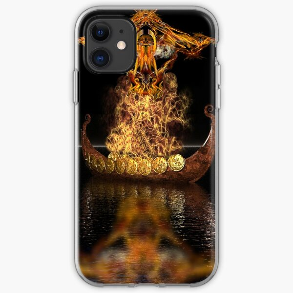 Viking funeral iPhone Soft Case