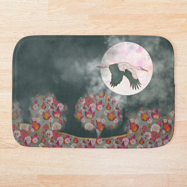 Moonlight Stork Bath Mat