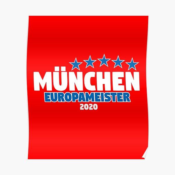 München Europameister 2020 Poster