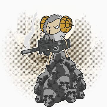 sheep with a machine gun by digitalstoff