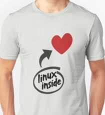 Linux inside my hearth Unisex T-Shirt