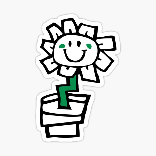Green Day Kerplunk Flower Sticker