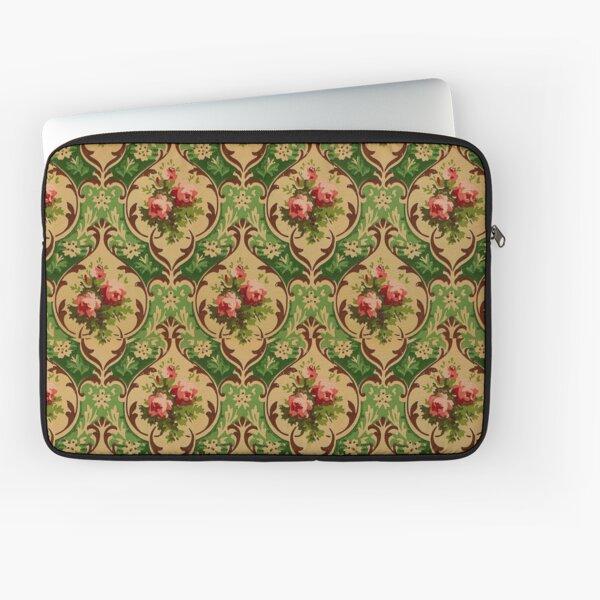 Vintage Victorian Roses Wallpaper Laptop Sleeve