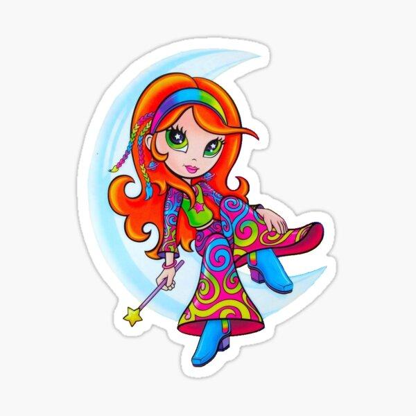 Lisa Frank Star Moon Girl Sticker