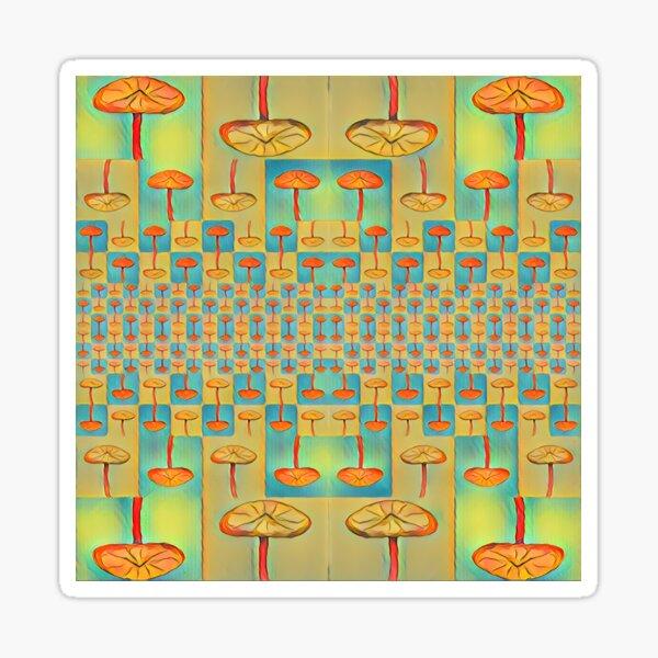 """""""Mushroom Matrix"""" Tessellation  Sticker"""