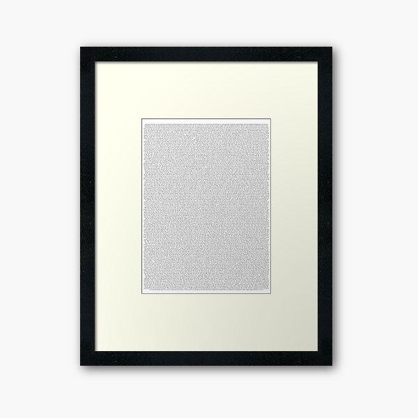 Entire Shrek Script Framed Art Print
