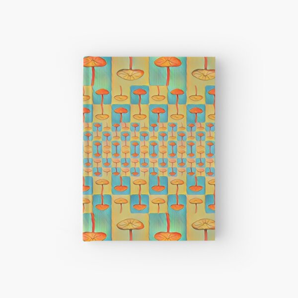 """Mushroom Matrix"" Tessellation  Hardcover Journal"