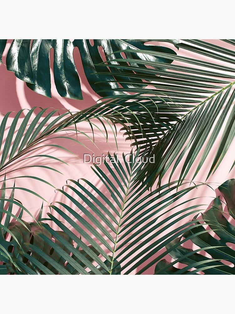Pink tropical leaves by nth4ka