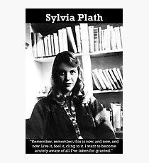 Lámina fotográfica Sylvia Plath