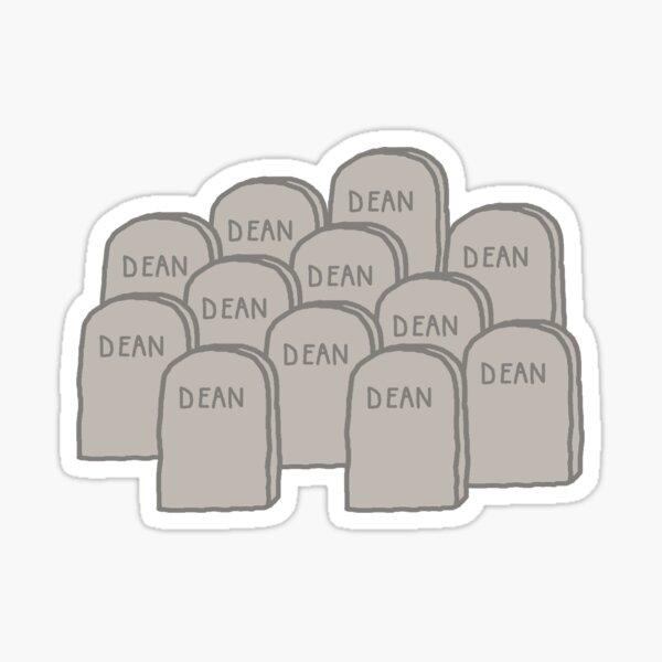 Dean Winchester Graveyard  Sticker