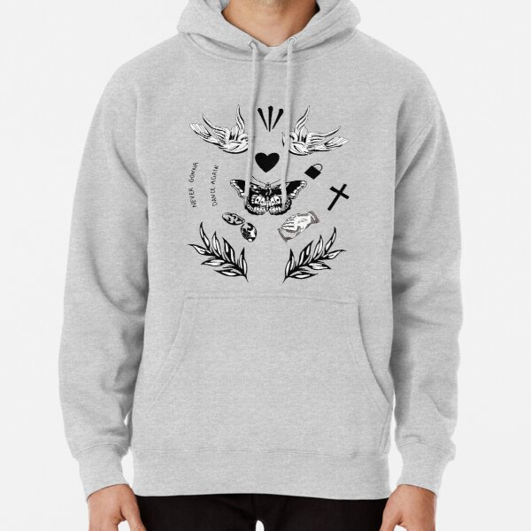 Harry Styles tattoo sticker pack Pullover Hoodie