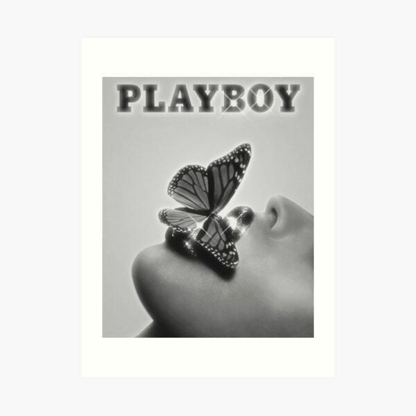 B&W PLAYBOY BUTTERFLY Art Print