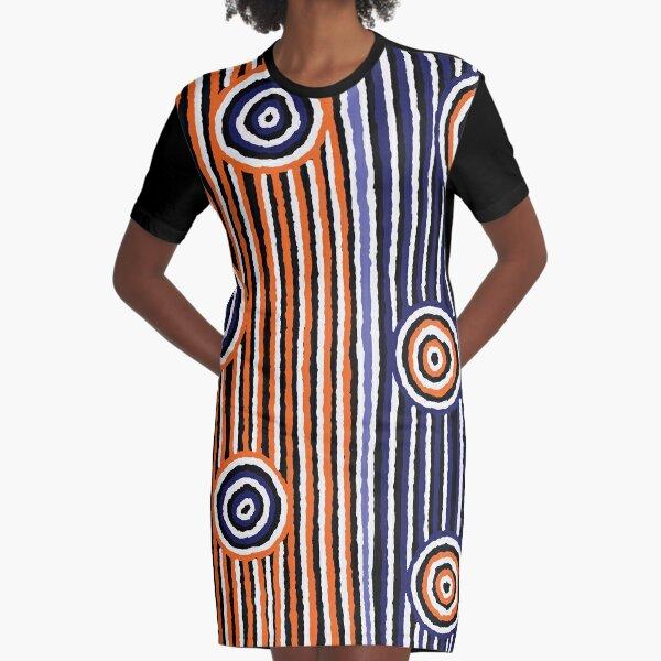 Authentic Aboriginal Art - Graphic T-Shirt Dress