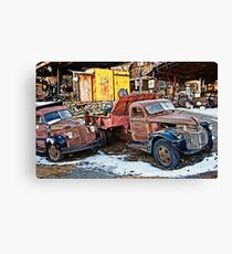Old Timers Looking for Work Canvas Print