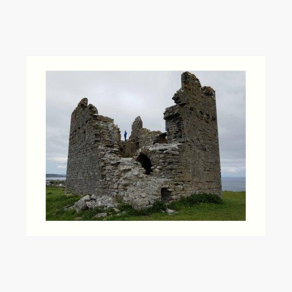 Caislean Ui Bhriain on Inisheer in Ireland Art Print