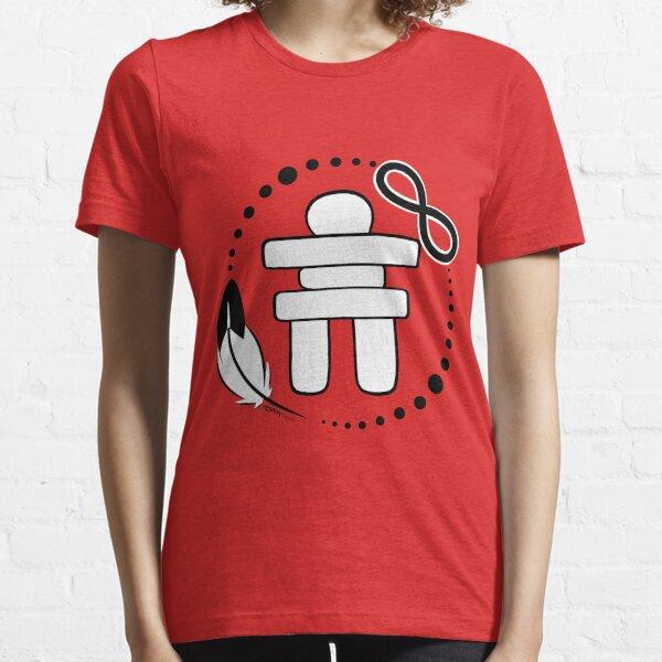 Unité autochtone (Inuit / Premières Nations / Métis) Rouge T-shirt essentiel