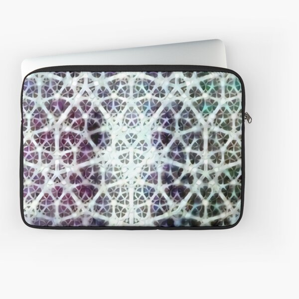 """Fractal Heart"" Algorithmically Generated Fractal Design Laptop Sleeve"