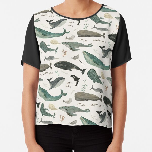 Whale Song Chiffon Top
