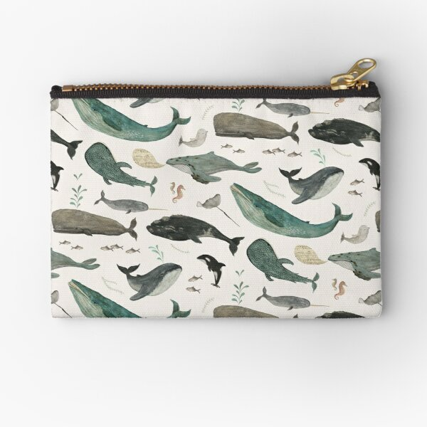 Whale Song Zipper Pouch