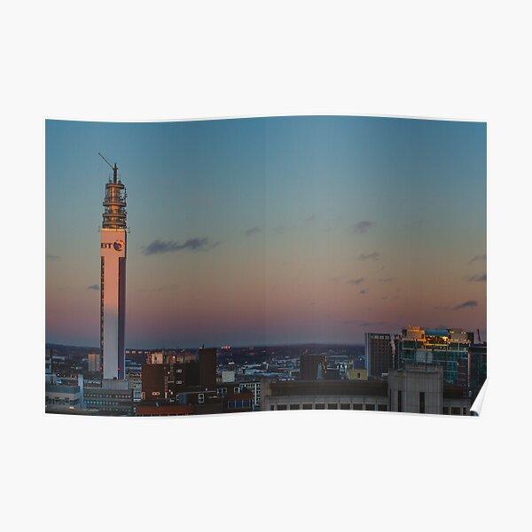 Birmingham BT Tower at Sunset Poster