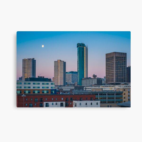 Moonset over the Birmingham Skyline Canvas Print