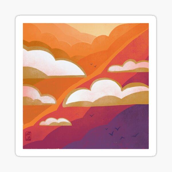 Landscape number two Sticker
