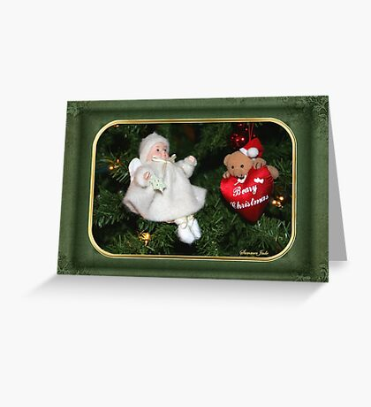 Beary Christmas ~ Tree Decorations Greeting Card