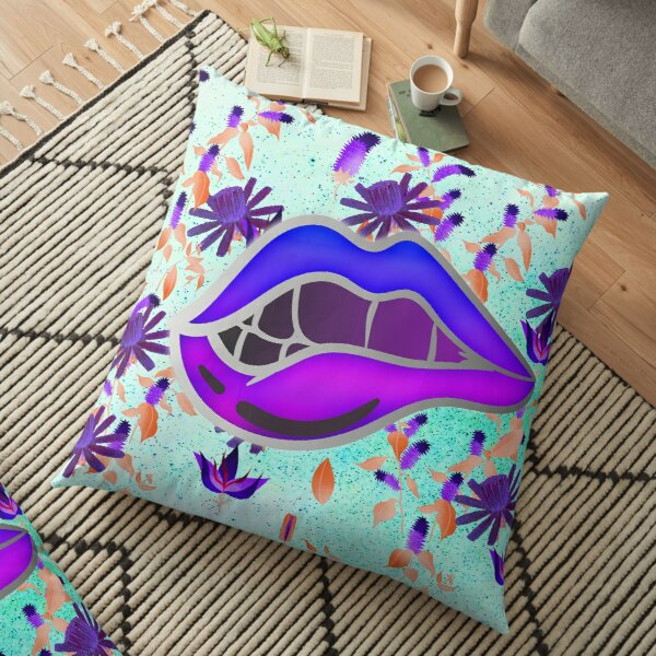 Pop Art Inspired Hot Lips Bright and Funky  Floor Pillow