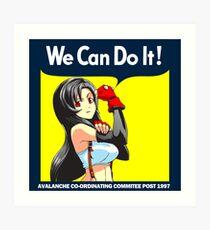 We Can Do it Cloud! Art Print