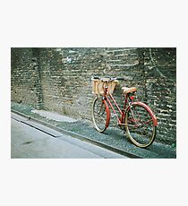 red bicycle Photographic Print