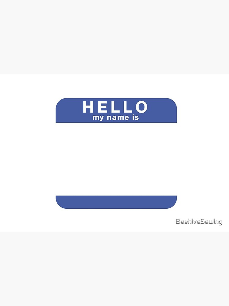 """""""Hello, my name is..."""" Face Mask by BeehiveSewing"""